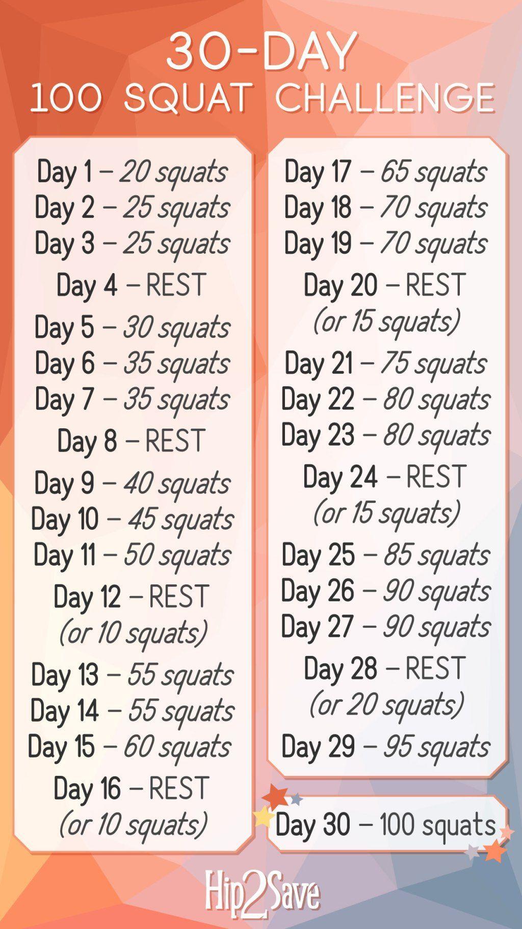 Unsere 30-tägige 100 Squat Challenge ist da (KOSTENLOS und erfordert keine Ausrüstung) - Wie man per...