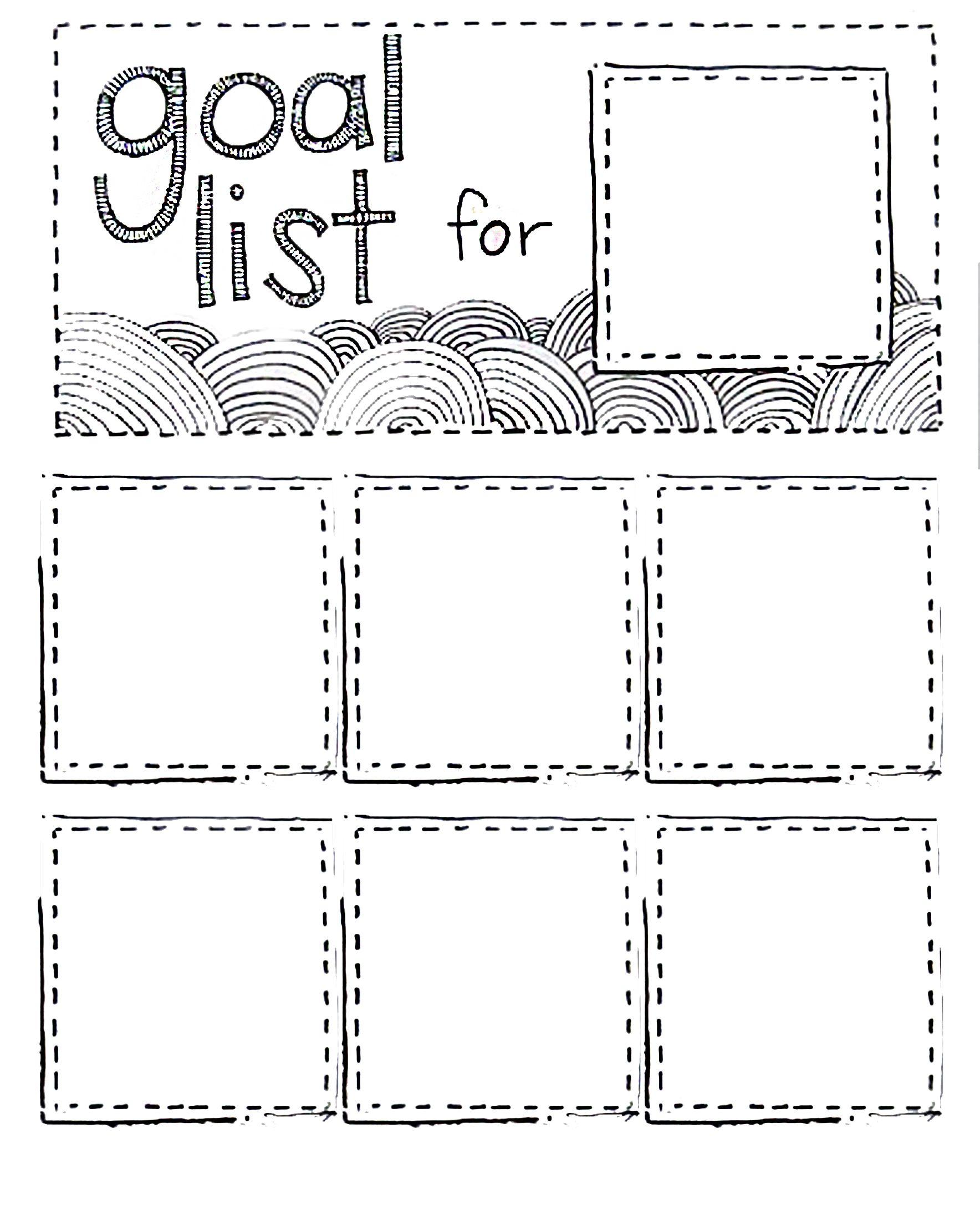 Printable Goal List Using Post It