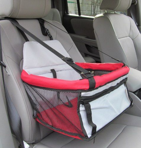 Pawhut Deluxe Pet / Dog Car Booster Seat - Red Pawhut http://www ...