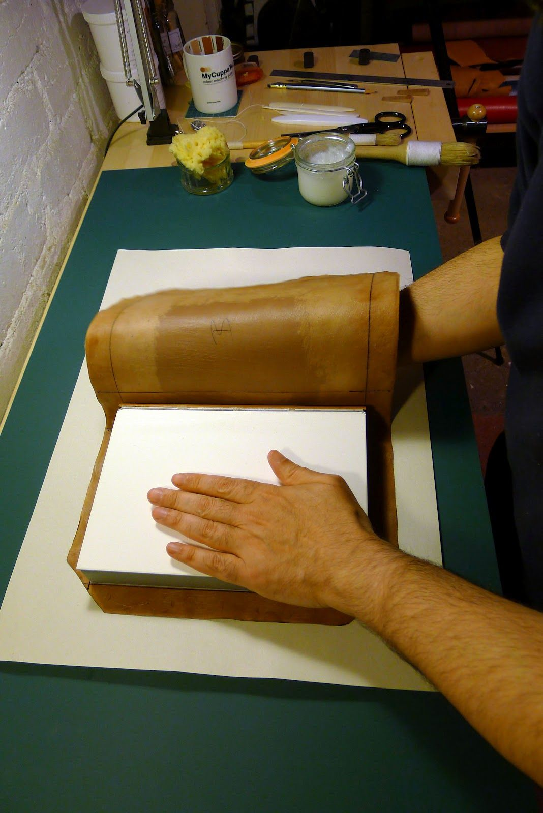 Papercut Bindery 9. Covering The Book Diy leather book