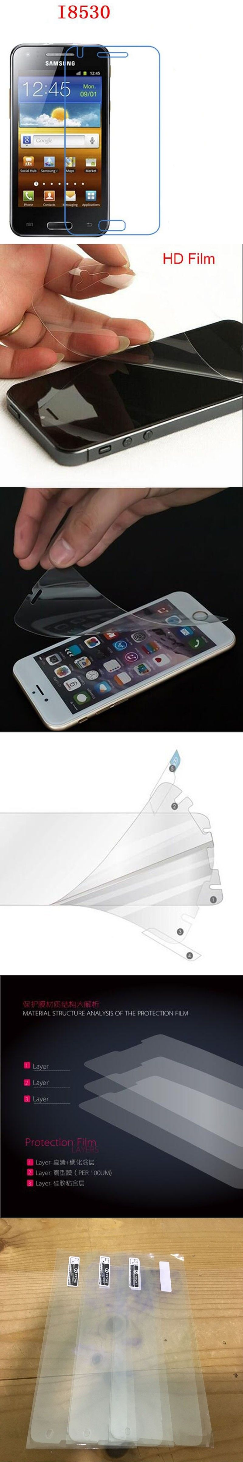 3 Pcs Hd Pe Soft Phone Film For Samsung I8530 Galaxy Beam Remax Aluminum Metal Button Bumper Protector Case Iphone 5 5s Touch Screen