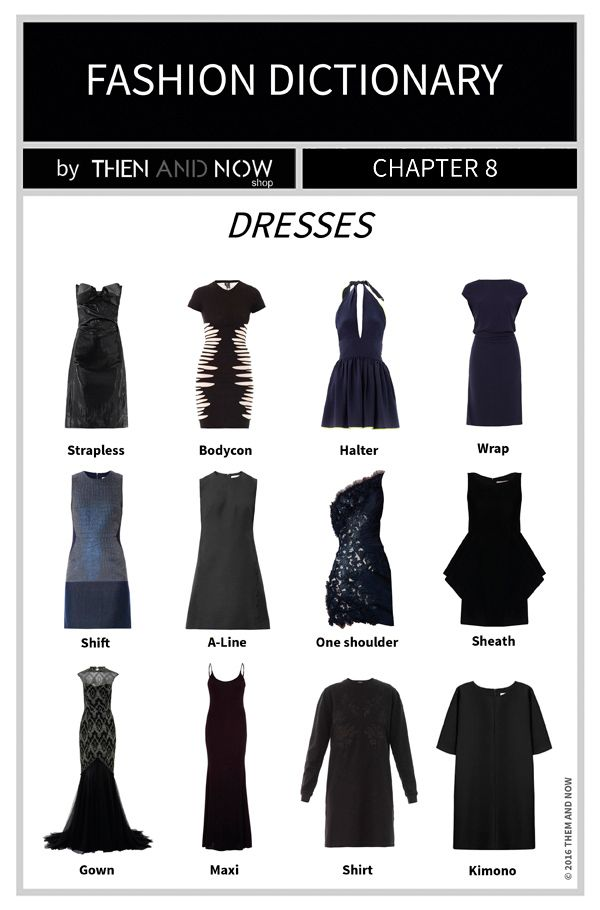 Dresses Infographic Types Of Dresses Then And Now Fashion Dictionary Fashion Terms Fashion Terminology