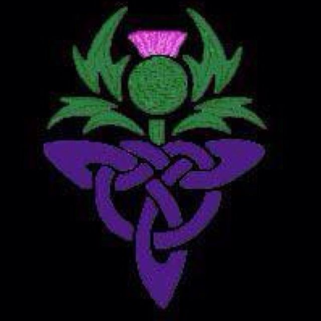 Thistle Only With Gray Knot Quilting 1 Pinterest Grey Tattoo