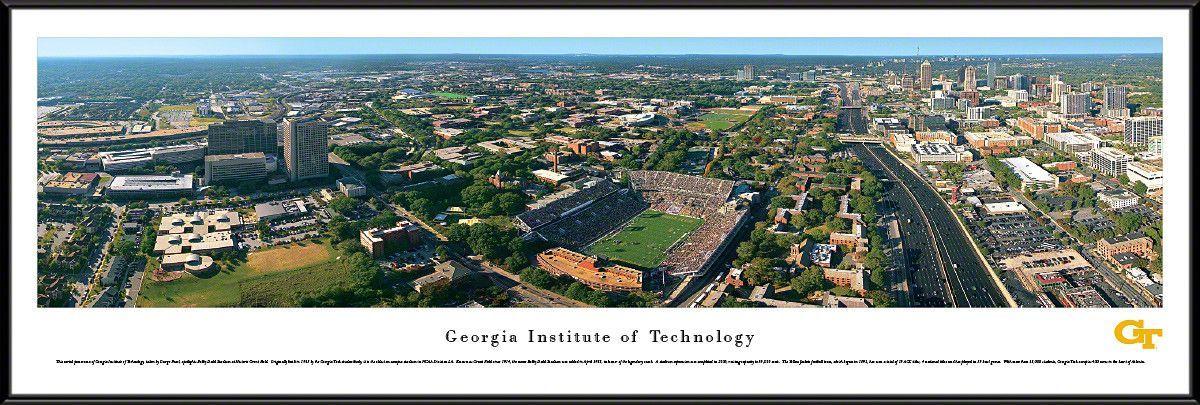Georgia Tech Yellow Jackets Panoramic Bobby Dodd Stadium