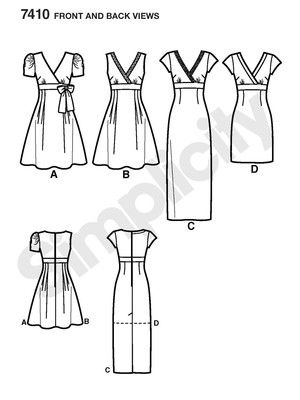 Schnittmuster: Kleid mit V-Ausschnitt - Kleider - Simplicity | Nähen ...