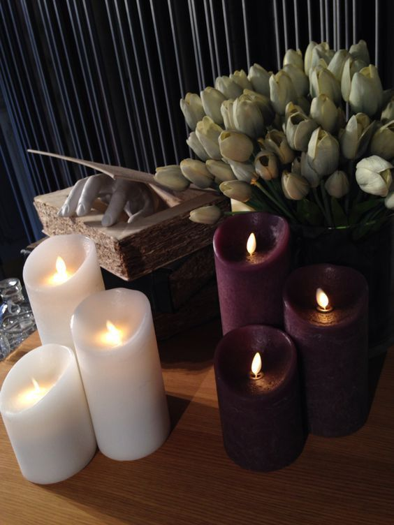 Indoor Vintage 9cm Vintage Luminara Candles Candles