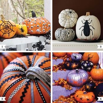 no-carve-pumpkin-ideas halloween crafts Pinterest Pumpkin - halloween pumpkin decorations