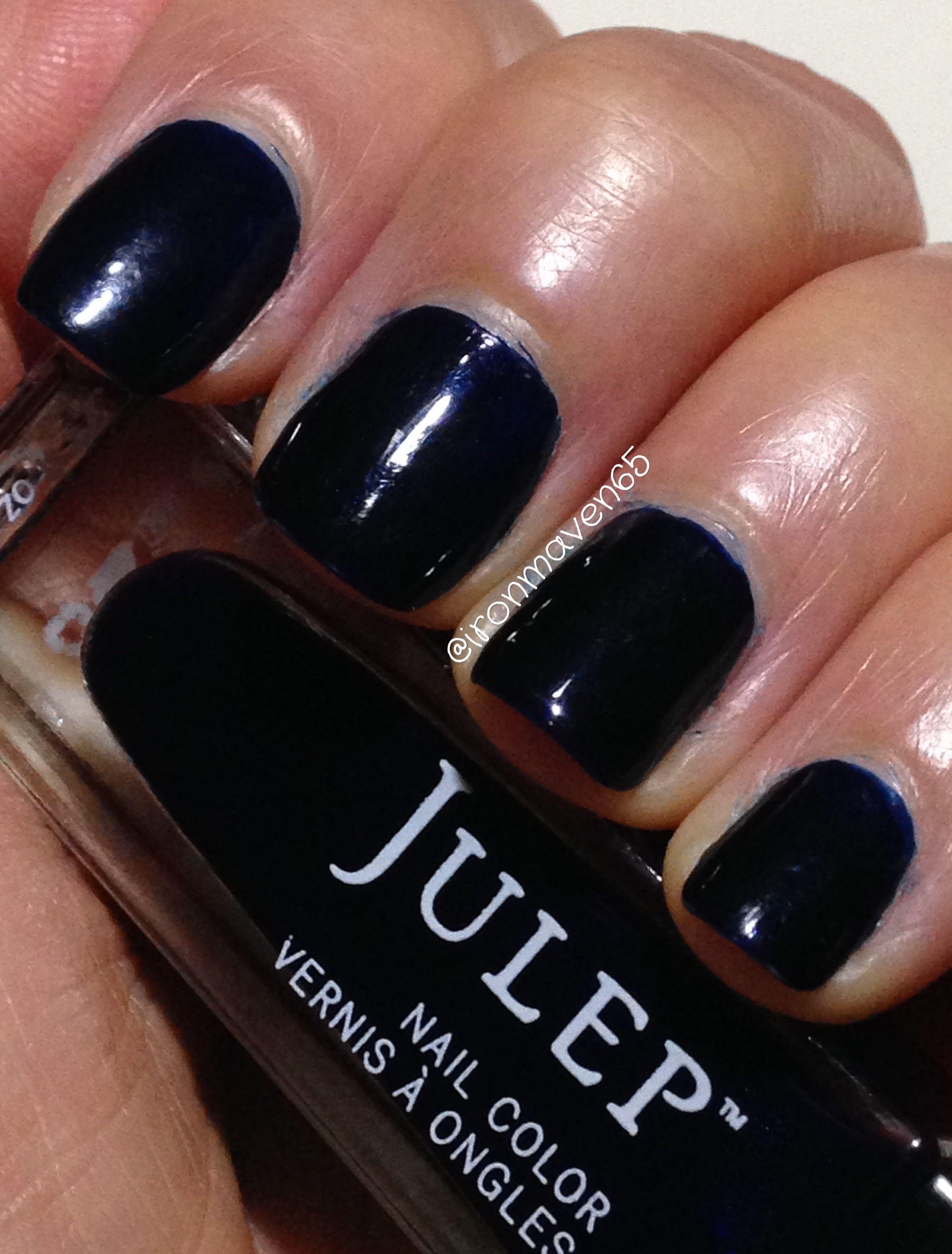 Julep Lolo Shell October 2016 Intense Indigo Ghost Shimmer Nail Polish Collection