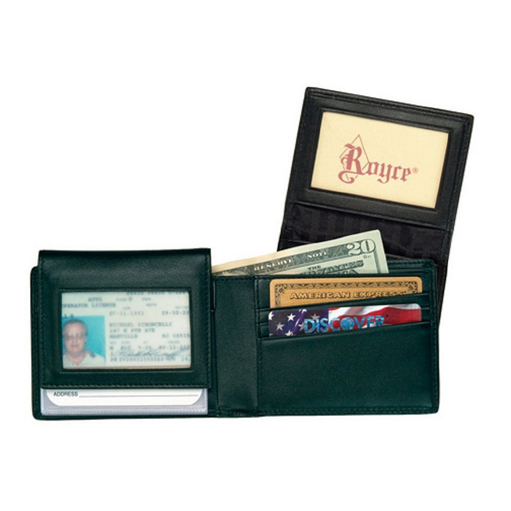 Royce Leather Mens Mens Flip Credit Card Wallet