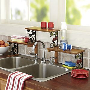mesmerizing apple kitchen wall decor | 2-Tier Apple Sink Shelf Great for Small Kitchen Country ...