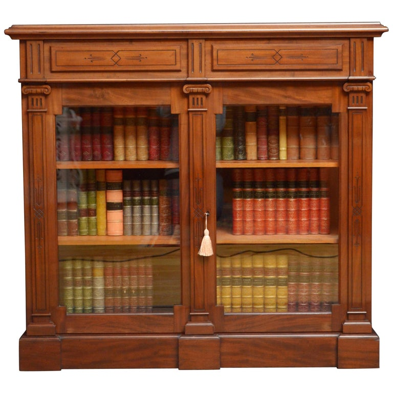 1stdibs Mahogany Library Cabinet Aesthetic Movement