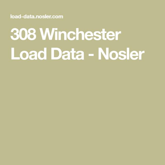 Nosler 243 Load Data