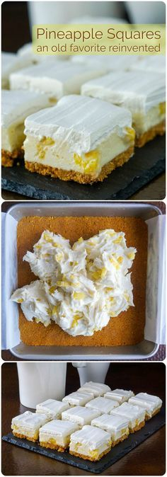 Pineapple Squares - an old no-bake Newfoundland Cookie Bar reinvented!