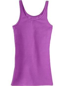 Girls Solid Jersey Tanks