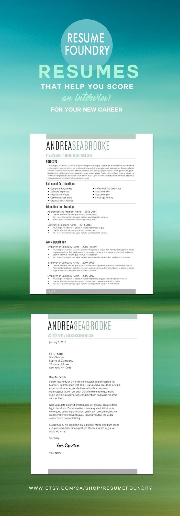Student Resume Template For Word  Page Resume  Cover Letter