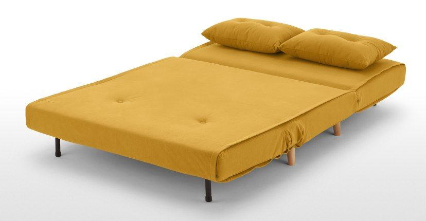 Haru Small Sofa Bed Butter Yellow In 2020 Small Sofa Small Sofa Bed Sofa Bed