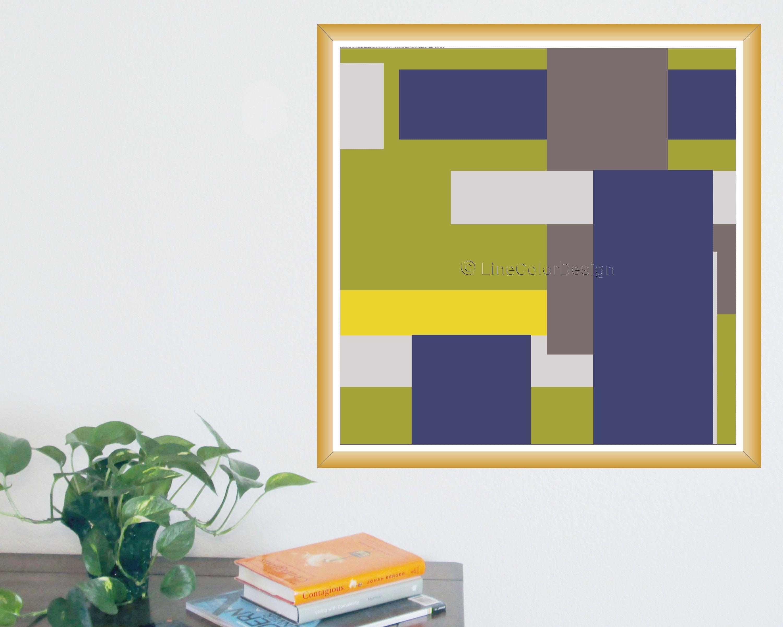 Abstract Geometric Art Print 24x24 16x16 A Minimalist Etsy Abstract Geometric Art Print Geometric Art Prints Abstract Geometric Art