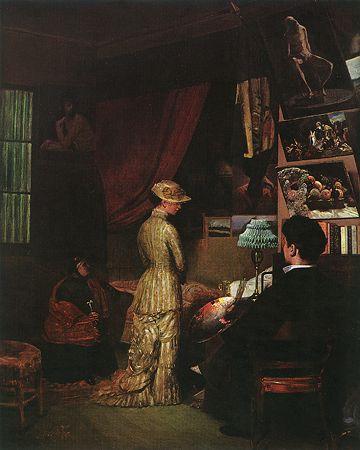 Jose Ferraz de Almeida Junior (Brazillian: 1850 - 1899) -O modelo (1897)