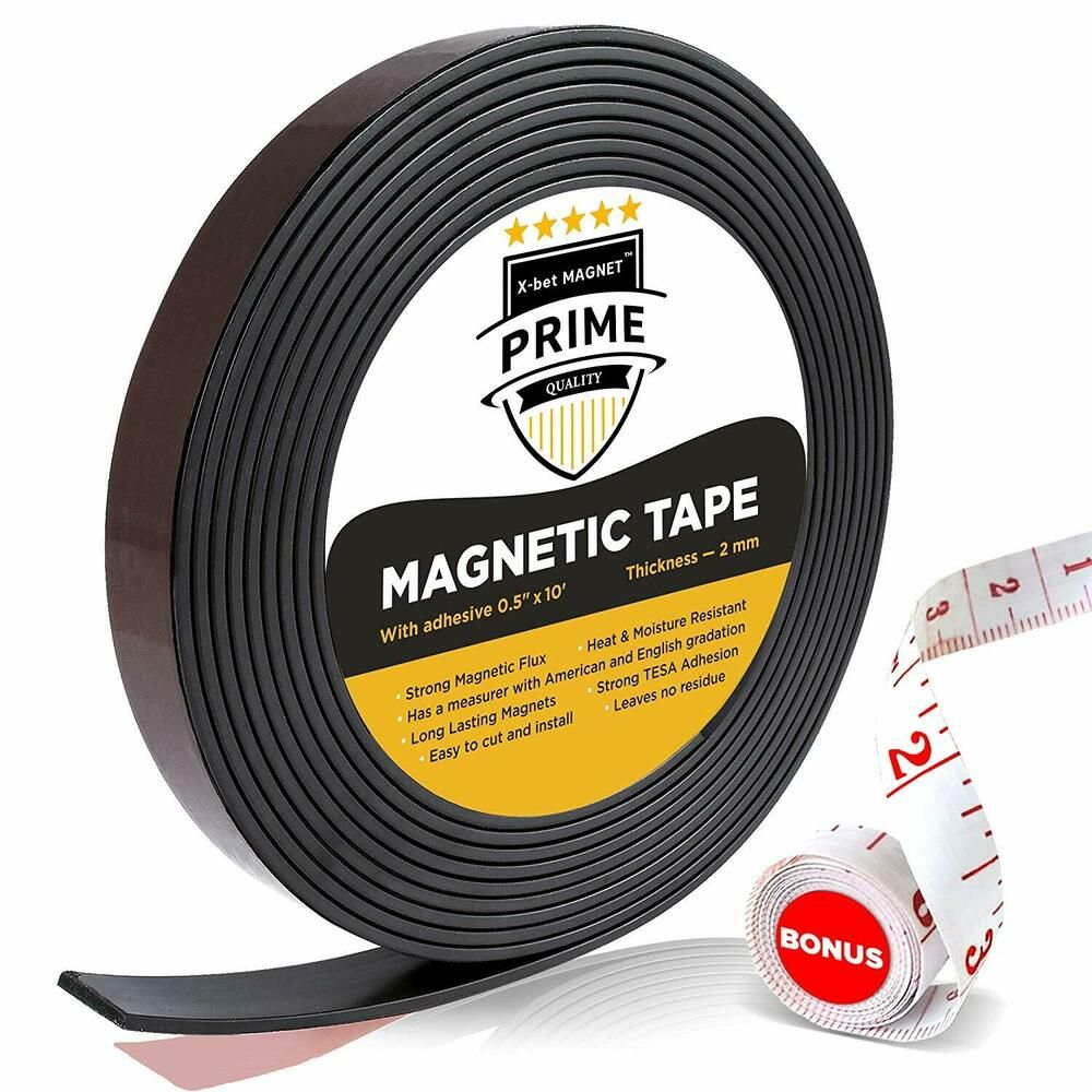 Magnetic strip rolls