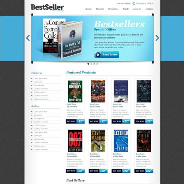 30+ Book Store Website Themes \ Templates Free \ Premium - booklet template free download