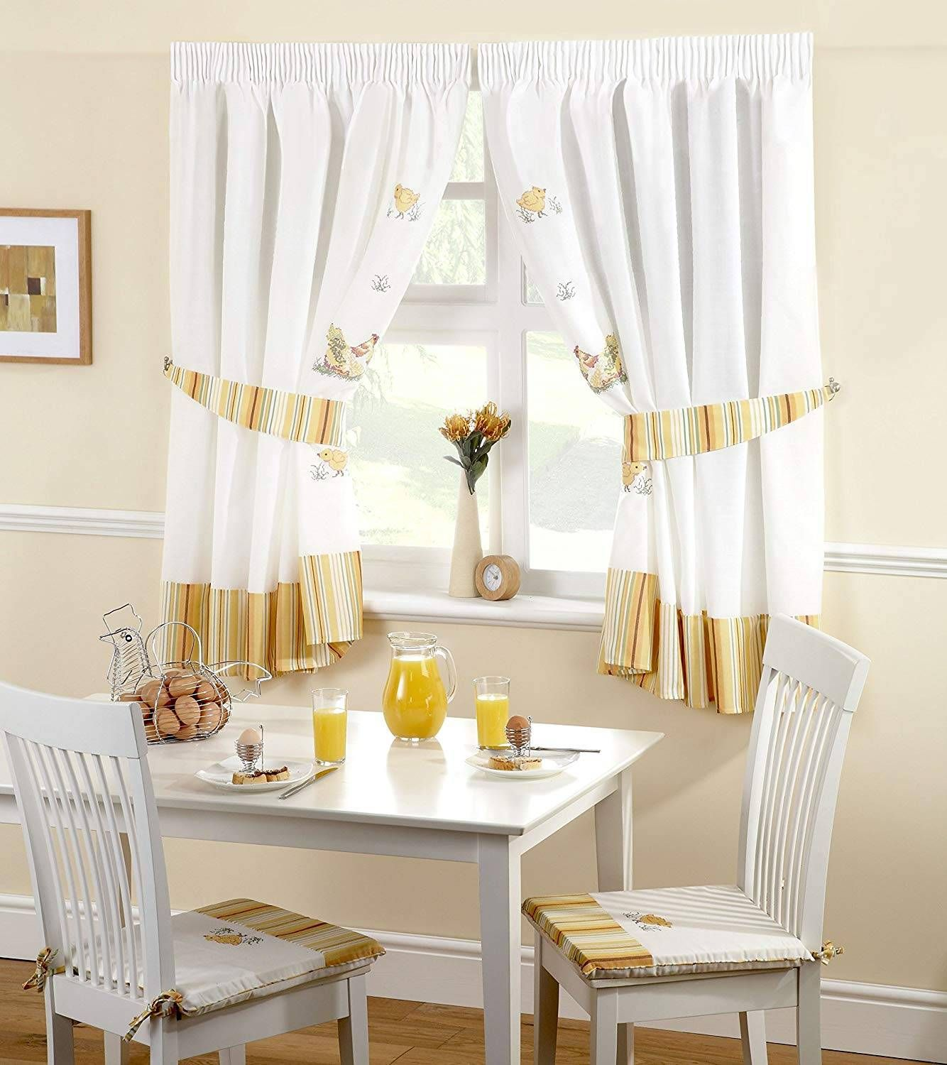 Design Kitchen Curtains (With images) | Kitchen curtains ...
