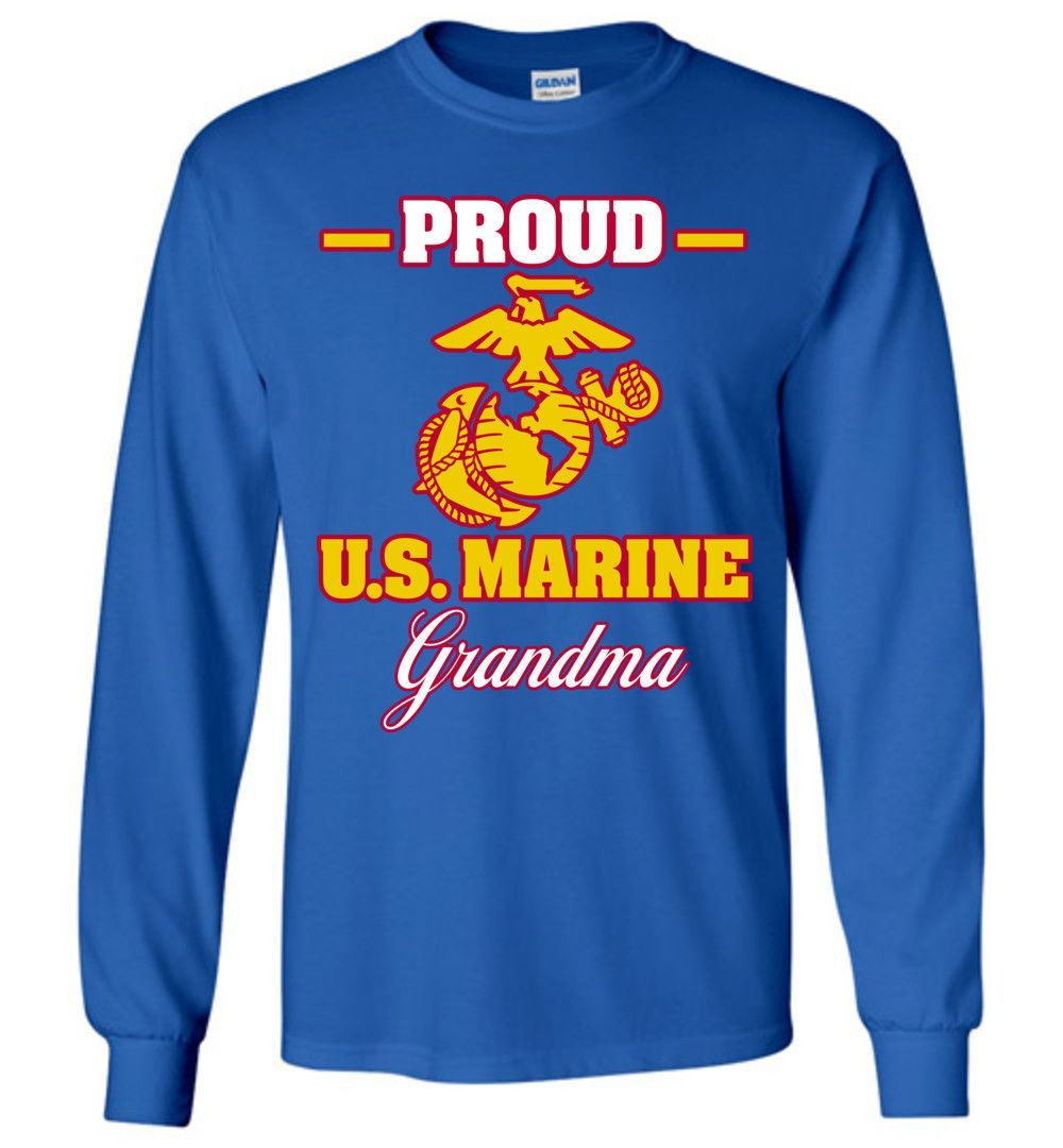 Proud U.S. Marine Grandma Gildan Long-Sleeve T-Shirt