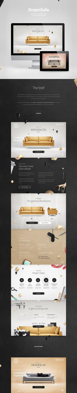 Dream Sofa Web Design Banner Dizajn Stranicy Dizajn Sajta
