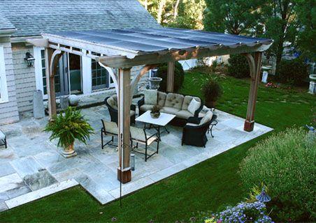 Off back patio: pergola with shade cloth - Off Back Patio: Pergola With Shade Cloth Ideas For Our House