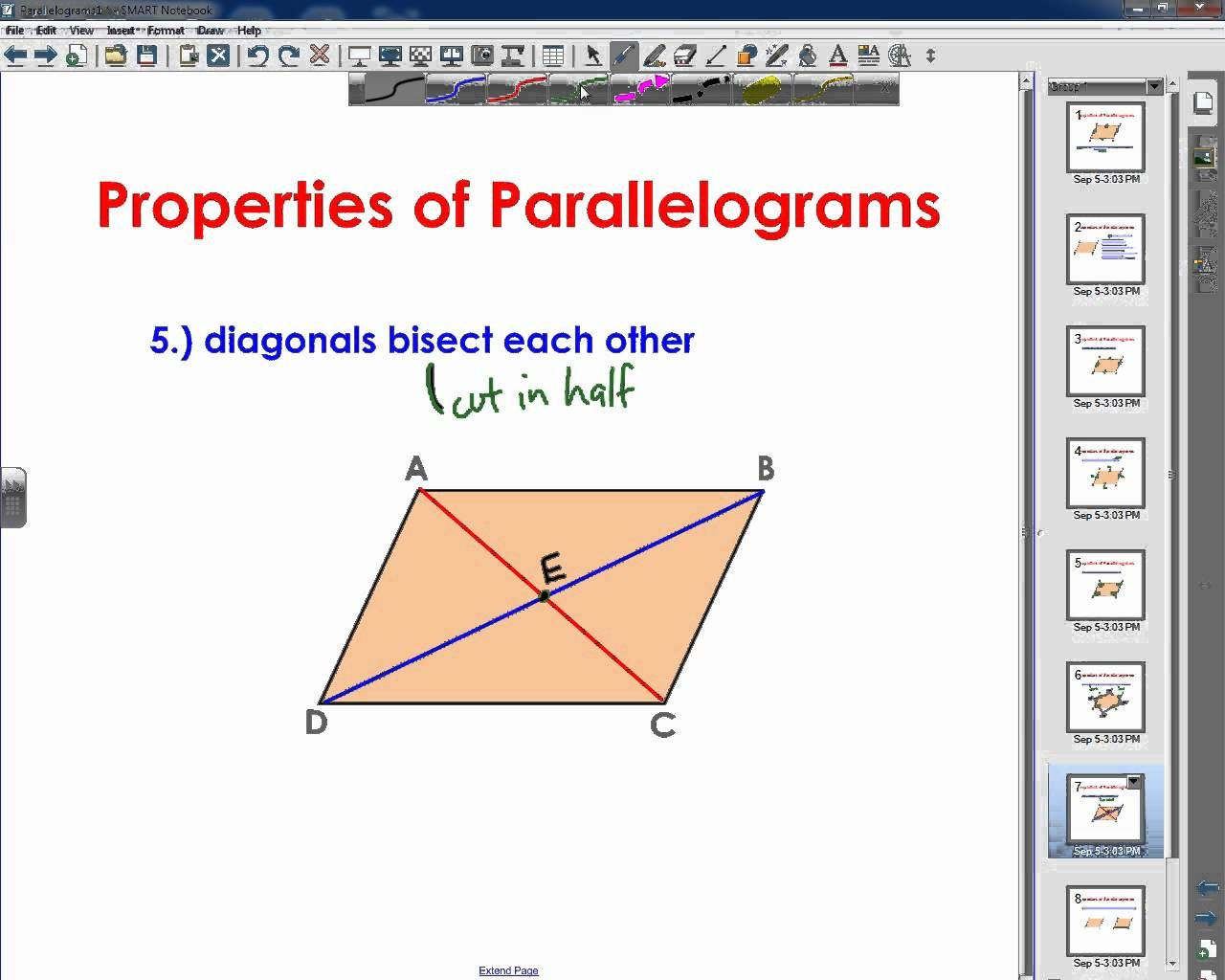 small resolution of Properties of Parallelograms   Geometry lessons