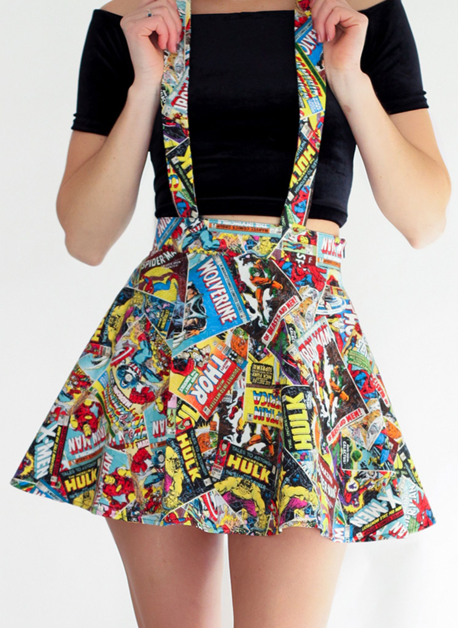 marvel suspender skater skirt marvel pinterest kleidung sch ne kleidung und kleider. Black Bedroom Furniture Sets. Home Design Ideas