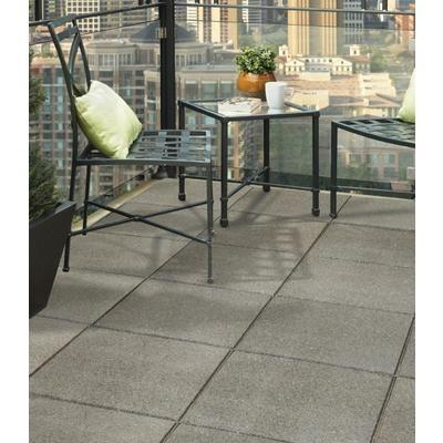 18x18 Inch EnviroTile Flat Profile Grey   MT5000698   Home Depot $7.99 Look  Like Concrete Pavers