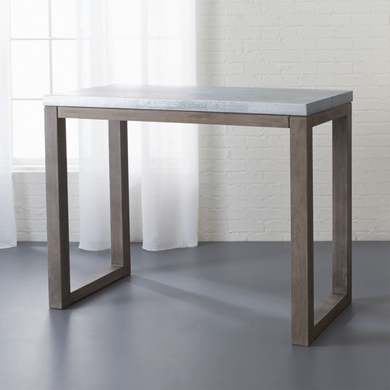 Shop Stern Small Counter Height Table Our First Counter Height Just Right Table Tops Out In Galvanized A High Dining Table Counter Table Modern Dining Table