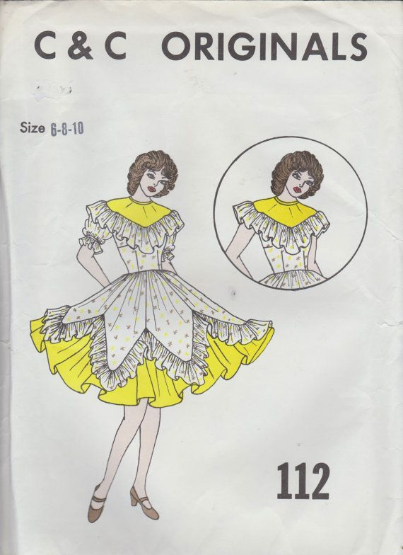 C & C Originals - Square Dance Dress Pattern 112 - Size 6-8-10