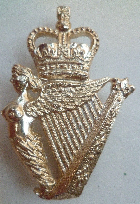 British Army Royal Irish Regiment Anodised Cap Badge