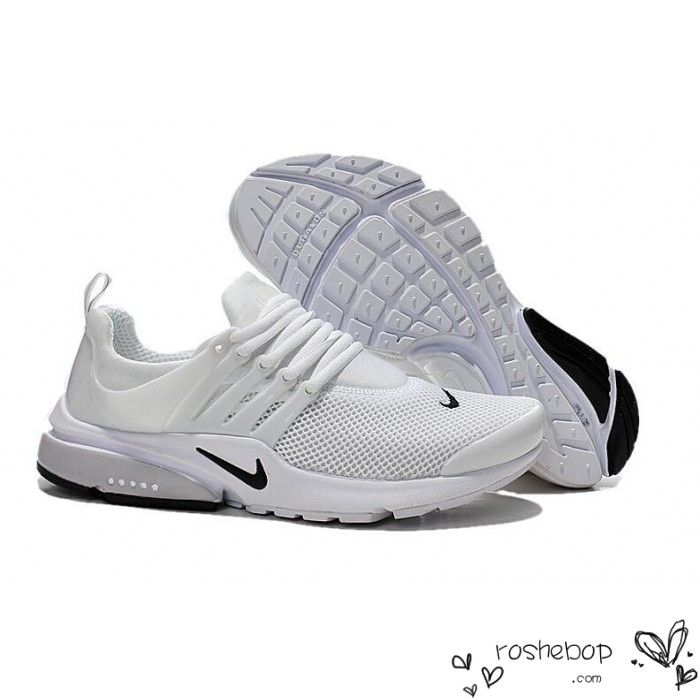 2015 Nike Air Presto BR QS Oreo Mens White Running Shoes