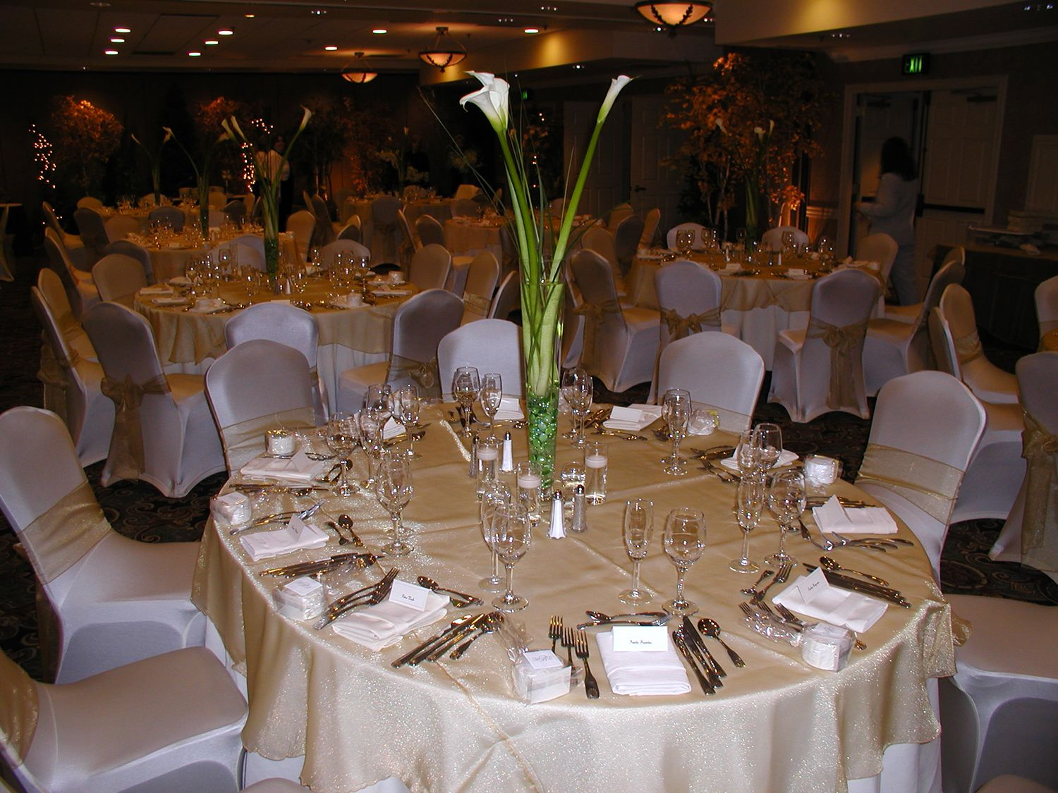 table setting no plates & Placeholders on table with plates at buffet table so I can use ...