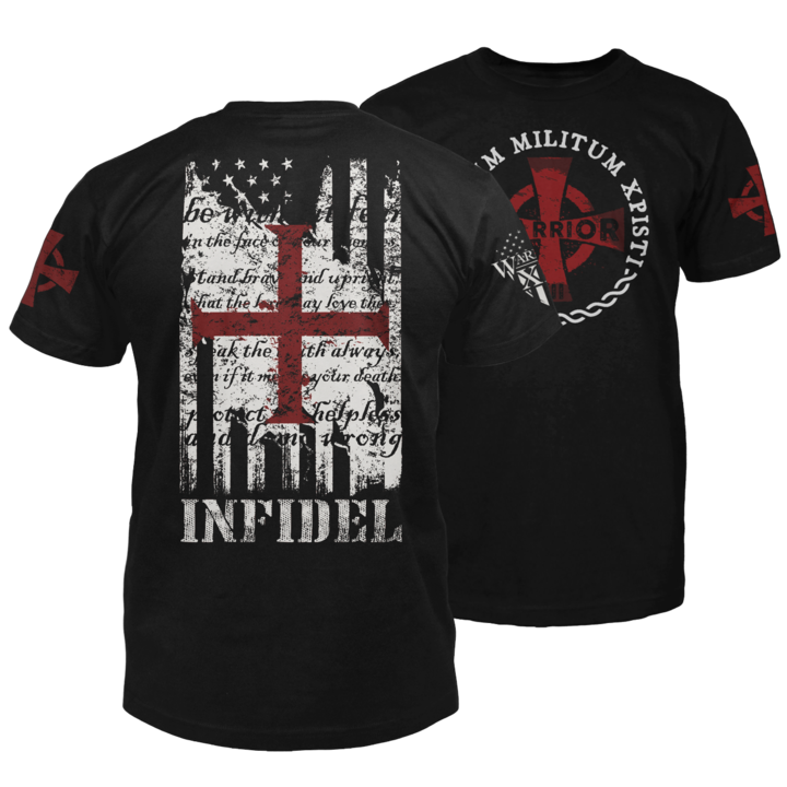 American Infidel | Feather pattern | Warriors shirt, Shirts