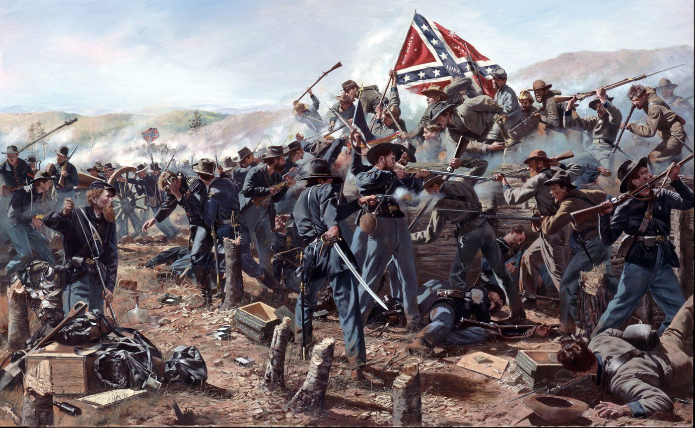 Civil War Battle Painting Confederate 1864 confederate ...