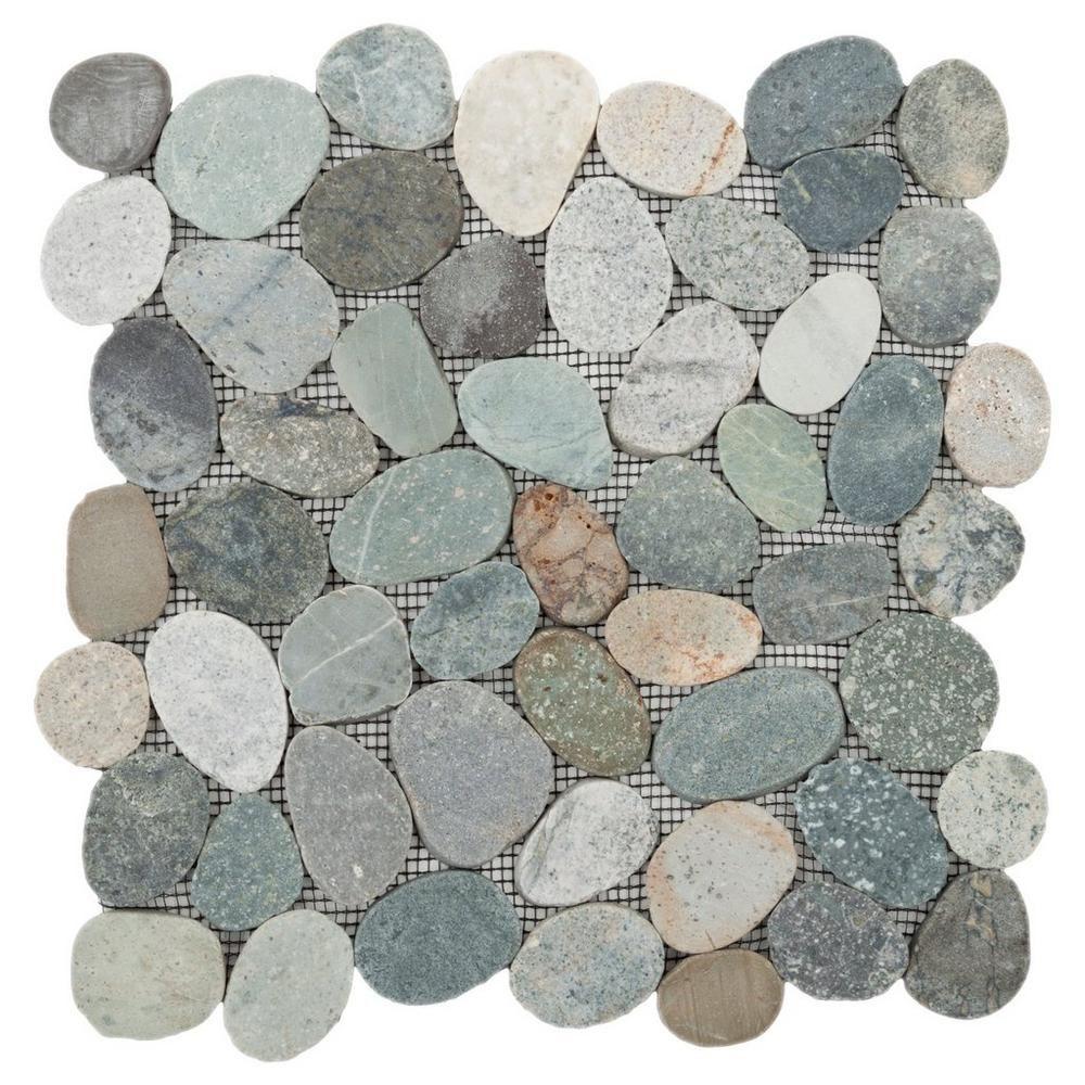 Floor And Decor Granite Tile Kayan River Pebble Stone Mosaic  River Pebbles Stone Mosaic And