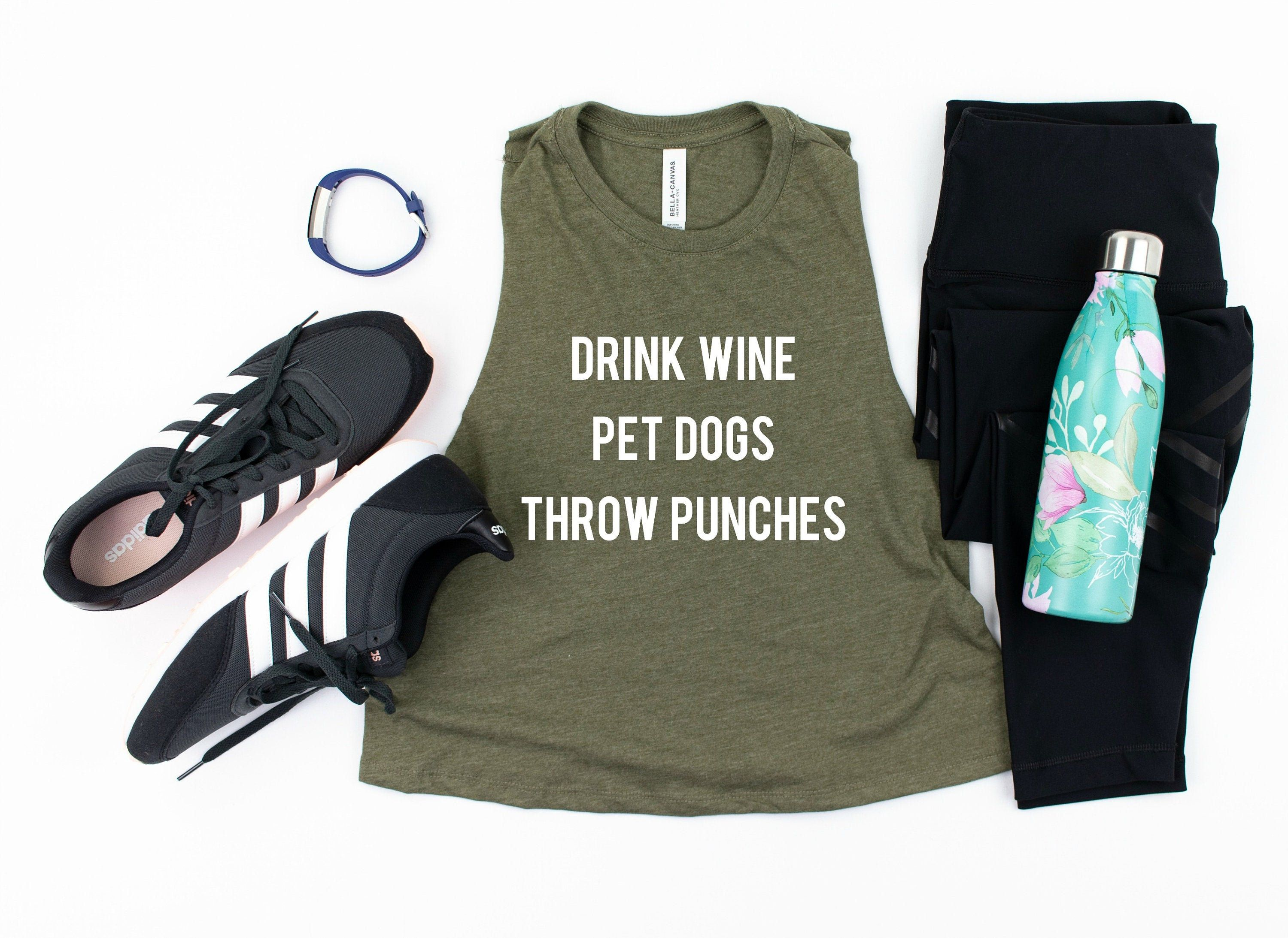 Funny Boxing Top What Kind Of Wine Goes With Uppercuts Muscle Tank Funny Kickboxing Top Womens Boxing Tank Kickboxing Tank Top Wine Top