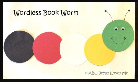 Wordless Book Worm3 Wordless Book Bible Crafts For Kids Bible