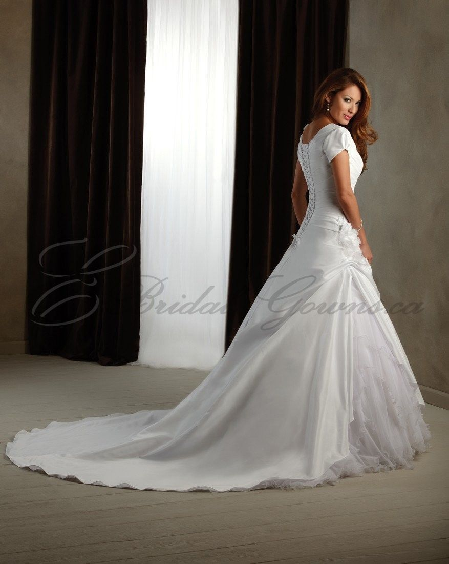Modest wedding dresses with sleeves modest neckline cap modest wedding dresses with sleeves modest neckline cap sleeves lace up ombrellifo Gallery