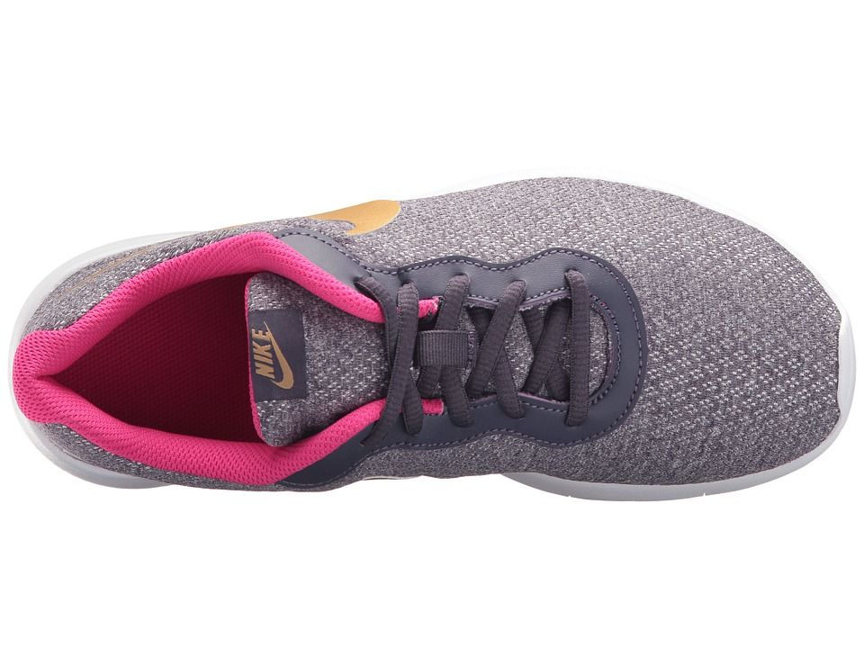 6a173b5f7c7 Nike Kids Tanjun (Big Kid) Girls Shoes Dark Raisin Metallic Gold Pink Prime