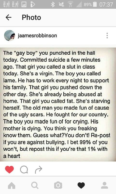 Repost if you don't like bullying