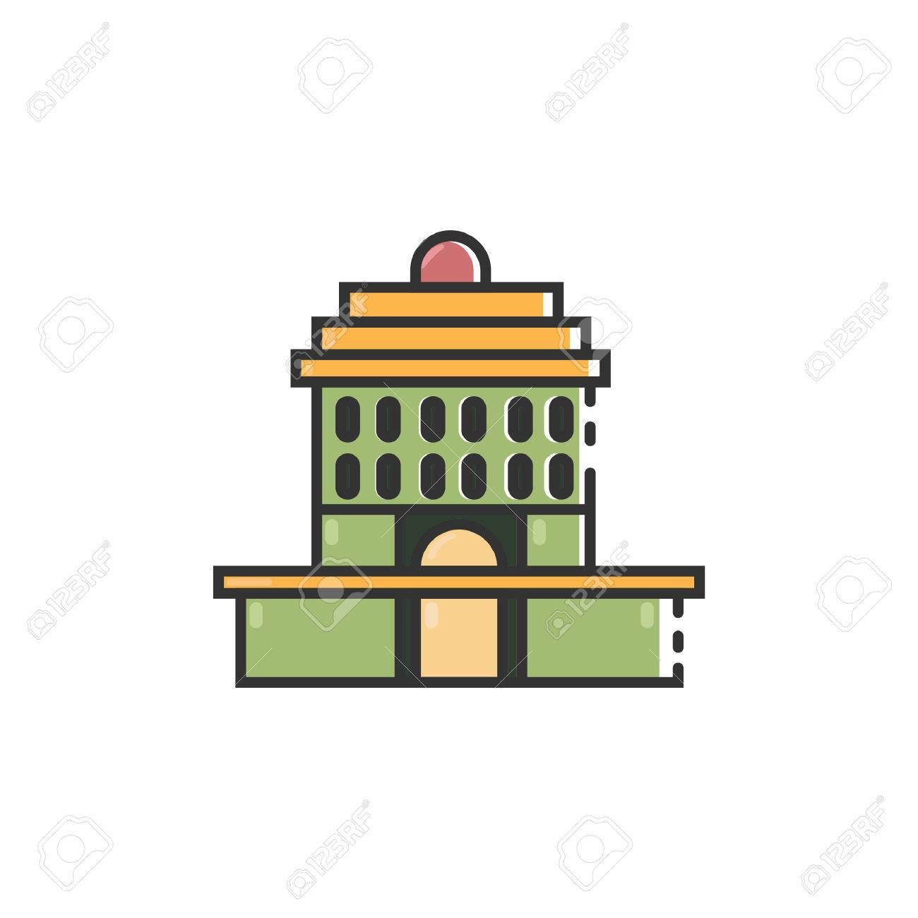 Simple Flat Color Oakland City Hall Icon Vector Illustration Affiliate Color Oakland Simple Flat City City Illustration Illustration Oakland City