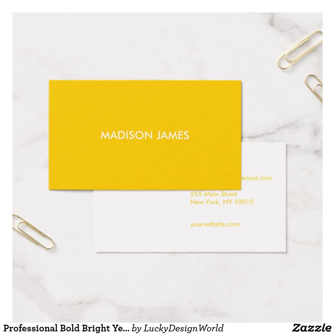 Interior Designbusiness: Professional Bold Bright Yellow Minimalist Modern Business