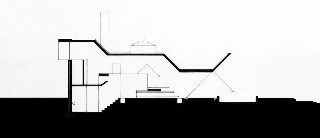 Juliaan Lampens_Van Wassnhove House_Sint-Martens Latem_Belgium_1970_Plans_Section_B111