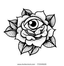 Resultado De Imagen Para Tatuajes Old School Blanco Y Negro Rosa