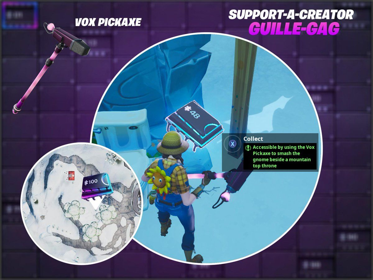 Fortnite Fortbyte 48 Location Accessible By Using The Vox Pickaxe