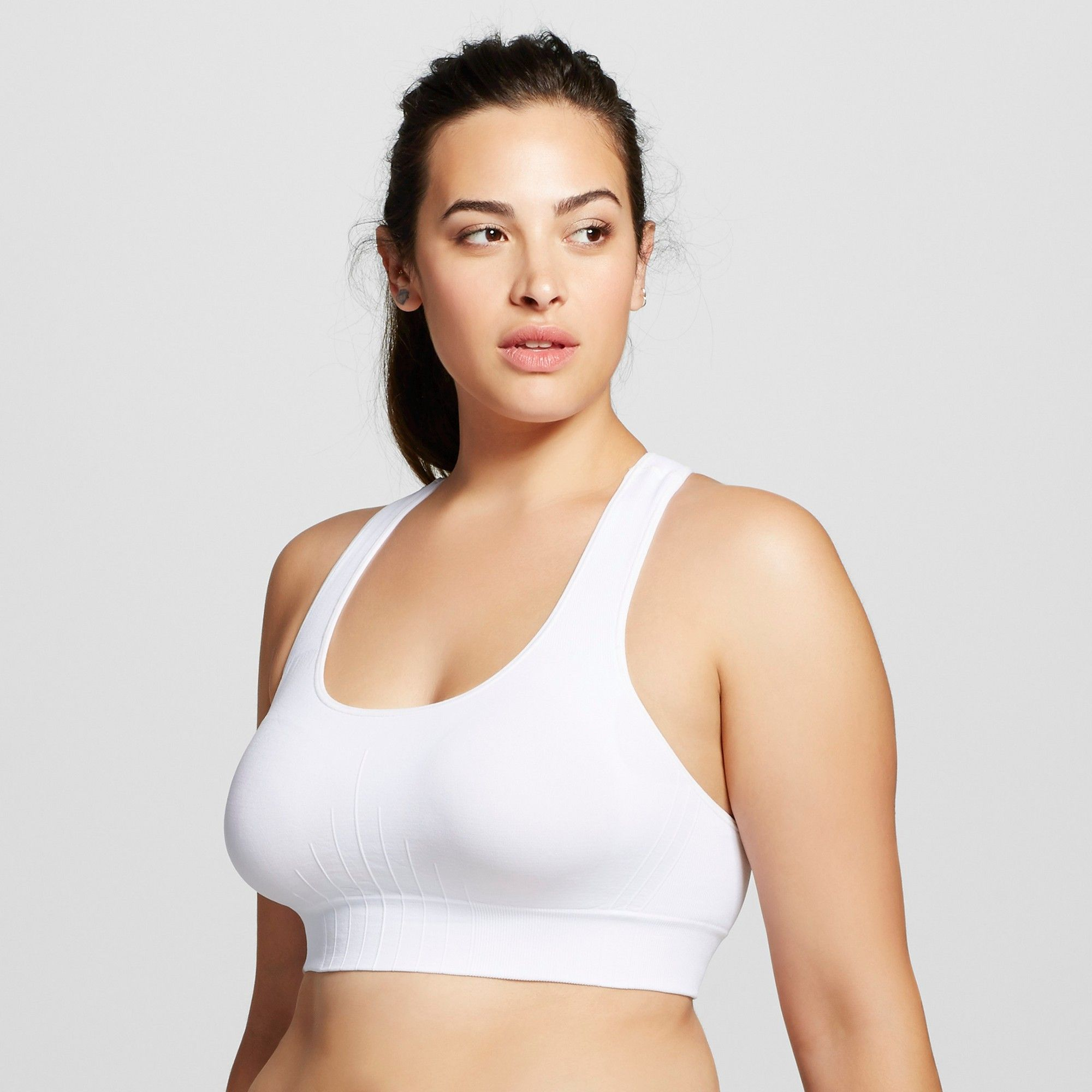 735cb153722f2 Women s Plus Size Seamless Racerback Sports Bra - C9 Champion White ...